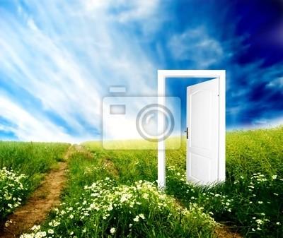 Drzwi do nowego świata. Kolorowe, jasne, świetna jakość.
