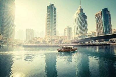 Dubai Marina at morning, United Arab Emirates