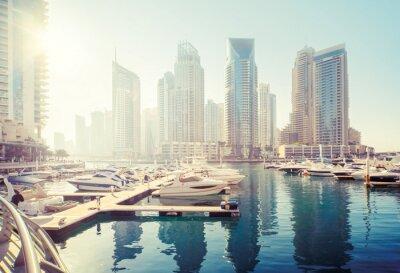 Dubai Marina at sunset, United Arab Emirates