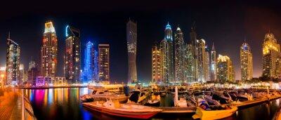 Obraz Dubai Skyline w nocy