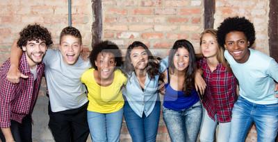 Obraz Duża grupa młodych ludzi