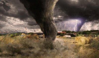 Obraz Duży Tornado katastrofa