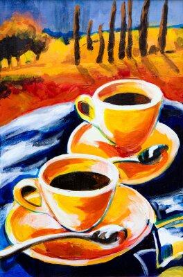 Obraz Dwie filiżanki kawy