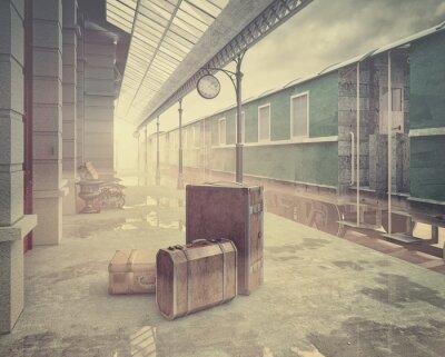 Obraz Dworzec kolejowy retro