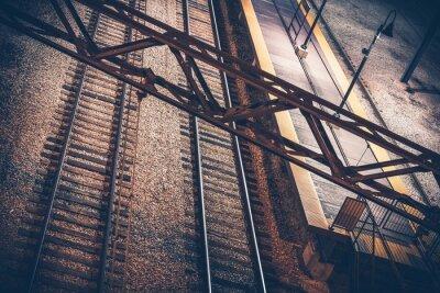 Obraz Dworzec kolejowy w nocy