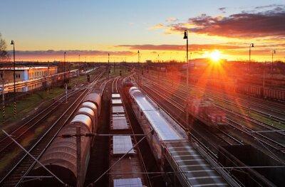 Obraz Dworzec towarowy z pociągów - Przewóz ładunków