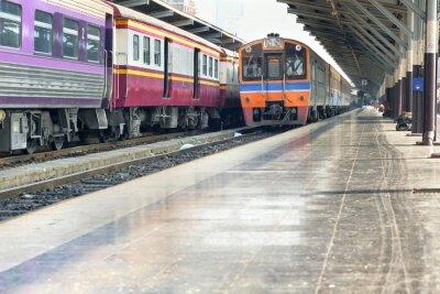Obraz Dworzec / Widok na stacji kolejowej, Bangkok, Tajlandia.