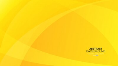 Obraz Dynamic textured yellow abstract background vector illustration