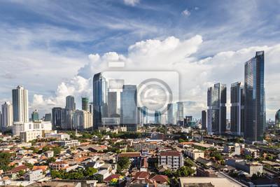 Dżakarta cityscape w stolicy Indonezji