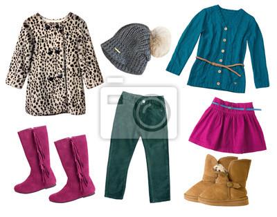 2a61f71ec739 Obraz Dziecko dziewczyna kobiece ubrania zestaw collage pojedyncze ...