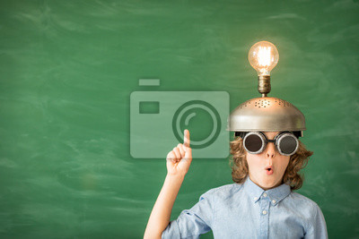 Obraz Dziecko z zabawką Virtual reality headset