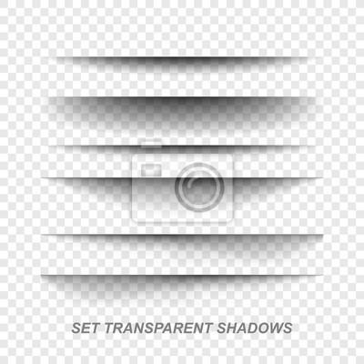 Obraz Dzielnik strony. Przejrzyste realistyczne papier cień zestaw efektów. Baner internetowy.