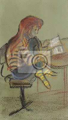 Obraz Dziewczyna czytanie