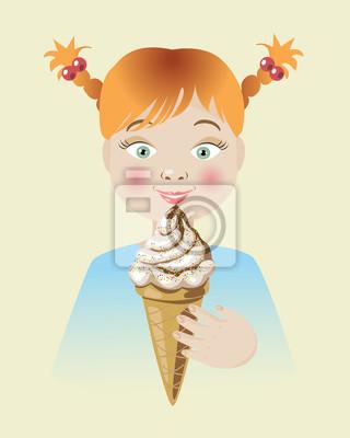 Dziewczyna i lody