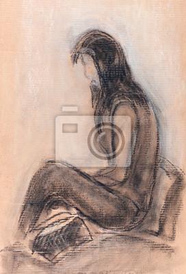 Obraz Dziewczyna słuchania muzyki