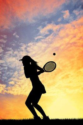 Obraz Dziewczyna tenis