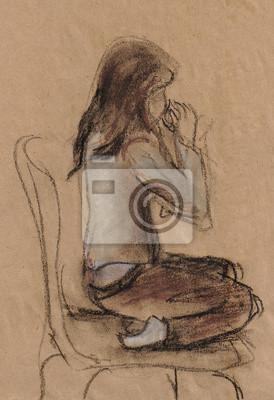 Obraz Dziewczyna z filiżanką
