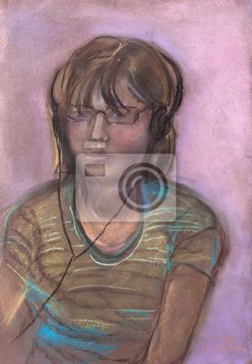Dziewczyna z słuchawkami