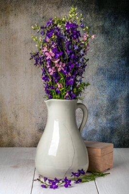 Obraz Dzikie kwiaty w wazonie