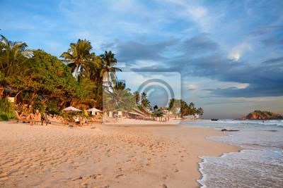 Dzikie piękne plaże Sri Lanki. Azja.