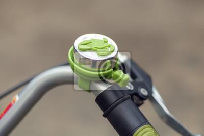Dzwon rowerów / Bliska dzwonka rowerowego.