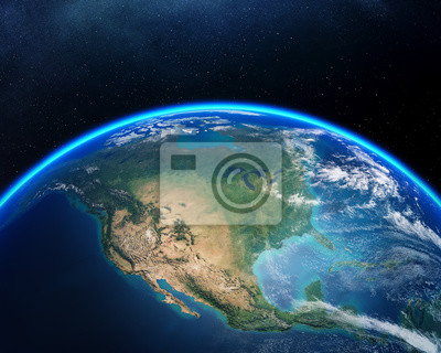 Obraz Earth from space North America