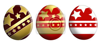 Obraz easter color eggswhite background