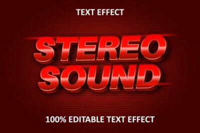 Obraz Editable Text Effect RED EMBOSS