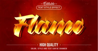 Obraz Editable text style effect - Flame text style theme.