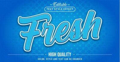 Obraz Editable text style effect - Fresh text style theme.