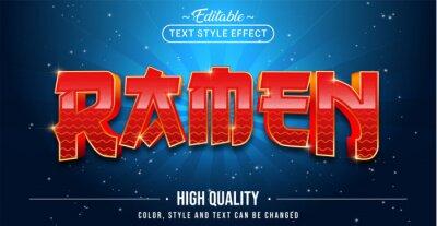 Obraz Editable text style effect - Ramen text style theme.