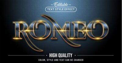Obraz Editable text style effect - Romeo text style theme.