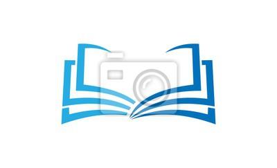 Obraz edukacja książka logo