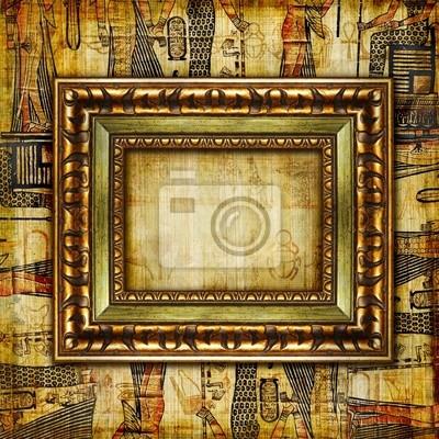 Egipcjanin tło z ramką