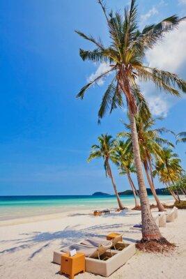 Egzotyczna tropikalna plaża.