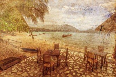 Obraz Egzotycznych plaży tropikalnych w stylu retro