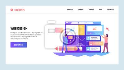 Obraz Ekrany włączenia witryny internetowej. Interfejs użytkownika do budowania zespołu ux. Szablon transparent wektor menu do tworzenia stron internetowych i aplikacji mobilnych. Nowoczesny projekt liniowy