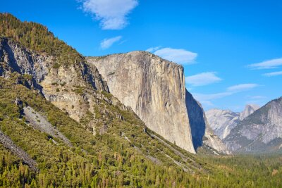 El Capitan rock formation in Yosemite National Park on a sunny day, California, USA.