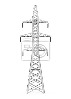 Obraz Electric Power Transmission Tower Isolated
