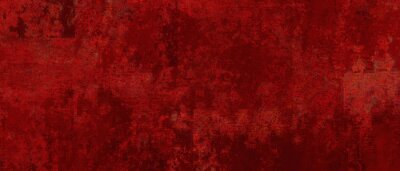 Obraz Elegant fancy rich red texture paper cracked and scratched wall  or antique metal grunge in luxury backdrop template, autumn or Christmas background