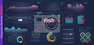 element projektu analizy web infographic. Projekt grafiki roczne wykresy. Streszczenie graficzny interfejs użytkownika, UX. Element informacyjny. Aplikacja mobilna. Giełda Papierów Wartościowych. Mega