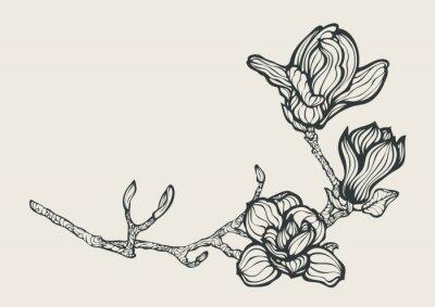 Obraz Element projektu z kwiatów fantastyczną oddział kwiatów