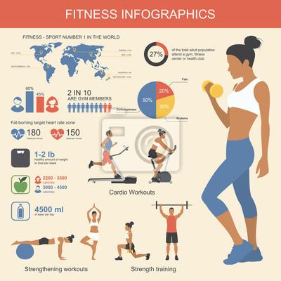 Elementy infografiki fitness. Ilustracji wektorowych z zdrowe