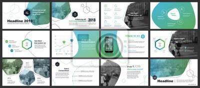Obraz Elementy infografiki i szablony prezentacji.