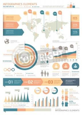 Elementy infografiki kolorów oczyścić z mapy świata i grafika informacyjne. Może być stosowany do przepływu pracy układu, schemat, opcje kroku, projektowanie stron internetowych, opcji Numer banner.