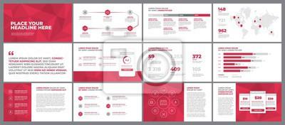 Elementy szablonu prezentacji. Wykorzystaj w raporcie korporacyjnym, reklamie i raporcie rocznym.
