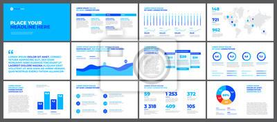 Elementy szablony prezentacji na białym tle. Infografiki wektor. Użyj w prezentacji, ulotce i ulotce, raporcie korporacyjnym, marketingu, reklamie, raporcie rocznym, baneru.