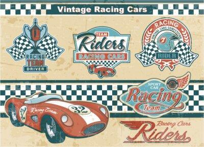 Obraz Elementy Vintage Car Racing