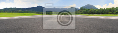 Obraz Empty asphalt road and mountain nature landscape