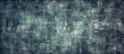 Obraz Empty dark like oil color concrete texture background panorama banner long